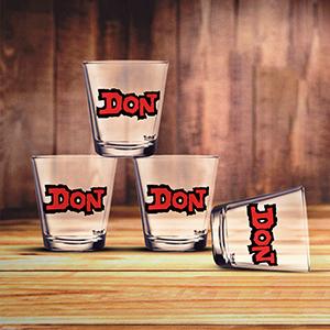 Don Shot Glasses Set of 4 - Shot Glass