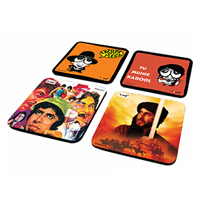 Caricature & Poster Combo Set of 4 - Coasters