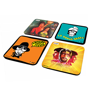Poster & Caricature Combo - Set of 4 - Coasters