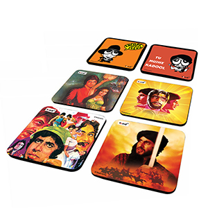 Poster & Caricature Combo - Set of 6 - Coasters