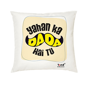 Yahan Ka Dada 16x16 Cushion Cover - Trendy Cushion Covers