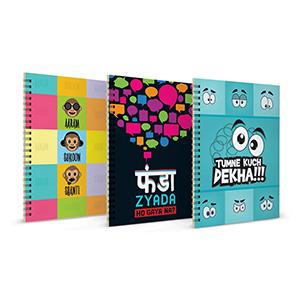 Aaram Sukkon Shanti + Funda Zyada + Tumne Kuch Dekha Notebook Set of 3 - Notebooks