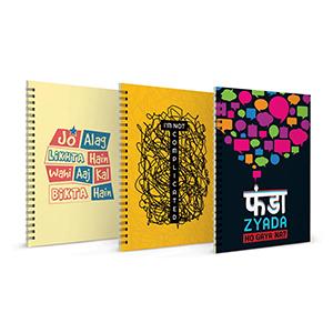 Jo Alag Likhta Hai + I m not Complicated + Funda Zyada Notebook Set of 3 - Notebooks