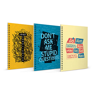 I m not Complicated + Don't Ask Stupid Questions + Jo Alg Likhta Hai Notebook Set of 3 - Notebooks