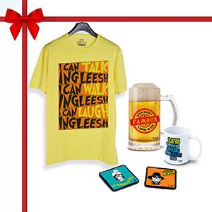 Amitabh Combo, T-Shirt, 1 Beer Mug, 1 Coffee Mug1, Coaster 2 (Combo of 5)  - Super Combos