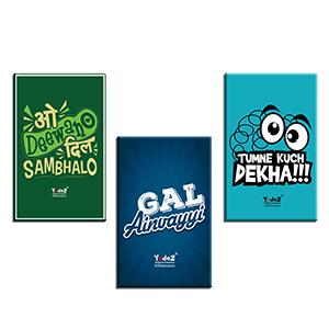 Tumne Kuch Dekha + O Deewano +  Gal Ainvayi FM Combo of 3 - Fridge Magnets