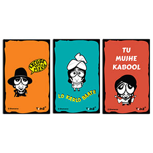 Combo of Caricatures - Fridge Magnets