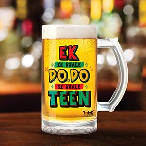 Ek se Bhale Do Do se Bhale Teen - Beer Mugs