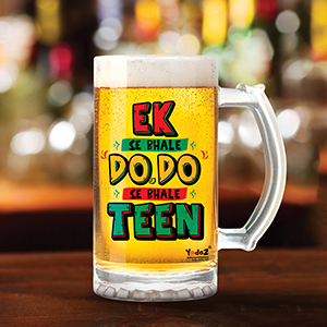 Ek se Bhale Do Do se Bhale Teen - Beer Mugs