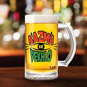 Aajma Ke Dekh - Beer Mugs