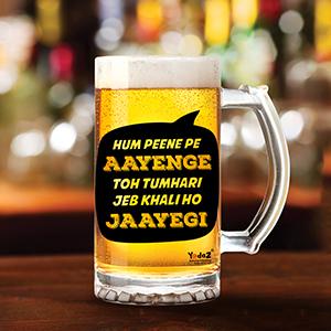 Hum Peene Pe Aayenge - Beer Mugs