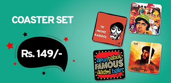 AAA and Khuda Gawah Combo - Set of 4  Rubber Coaster - Coasters